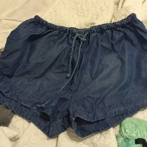 Mossimo Supply Co. Shorts - Chambray Pull On Shorts